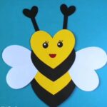 Make-Heart-Shaped-Bee-Craft-for-Kids